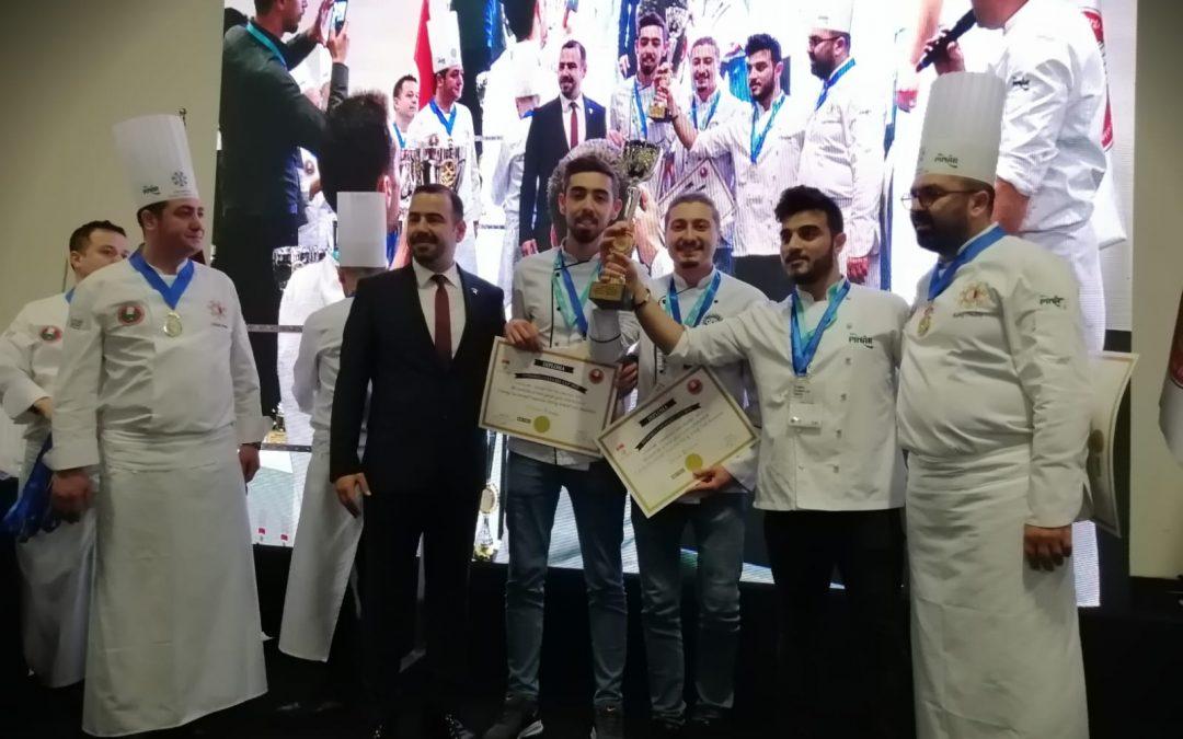 Aşçılık Öğrencilerimiz Uluslararası İstanbul Culinary Cup 2020'den 3 Altın Madalya Kazandı